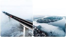 Így néz ki a jégvilággá változott Deseda és a ködbe vesző völgyhíd