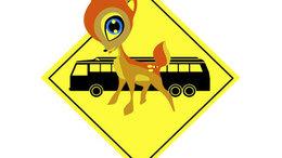 Iskolásokat szállító busz ütközött szarvassal