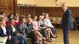 A város óvónőivel találkozott Kaposvár polgármestere
