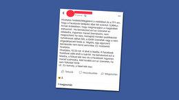 Újabb kamu bejegyzés terjed a Facebookon