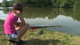 Horgászpalánták a Petörke-tónál