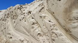 Fecskék költöztek az épülő 67-es út melletti homokfalakba