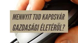 Mennyit tud Kaposvár gazdasági életéről?