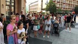 Az állatkínzások ellen demonstráltak Kaposváron