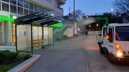 Folyamatos a kaposvári buszmegállók fertőtlenítése