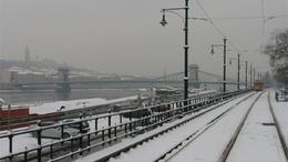 24 centis hó van Budapesten