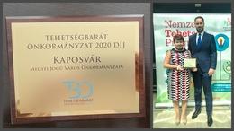 Tehetségbarát önkormányzat-díjat kapott Kaposvár