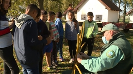 Gólyafészkeket készítettek a nagybajomi iskolások