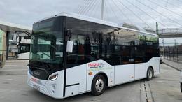 Kipróbálható a tesztelésre Kaposvárra érkezett elektromos autóbusz