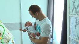 A megújult szülészet első babáját köszöntötték
