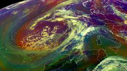 Ennek a ciklonnak köszönhetjük az erős felmelegedést!