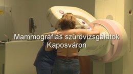 Újabb mammográfiás szűrővizsgálatok Kaposváron
