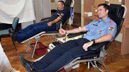 Vért adtak a somogyi tűzoltók