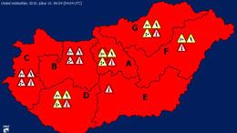 Csütörtökön is vörös riasztás van érvényben a nagy meleg miatt