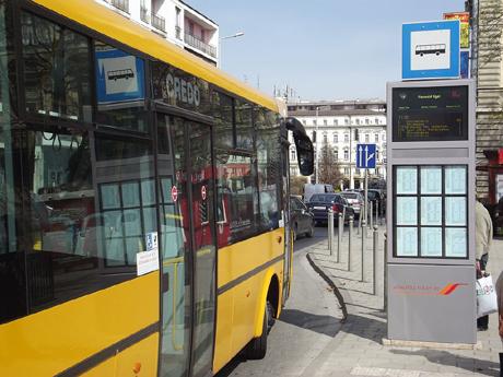 intelligens buszmegálló dinamikus buszöböl