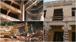 Itt tart most a Csiky Gergely Színház átépítése