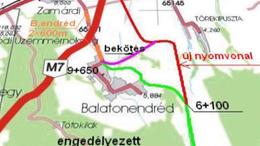 Építik az utat Lulla-Balatonendréd között
