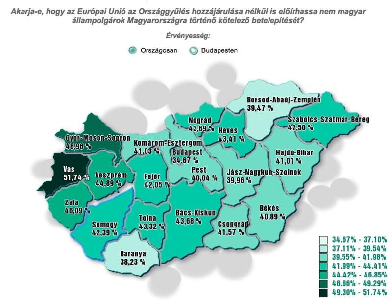 Megyénkénti adatok. Forrás: valasztas.hu