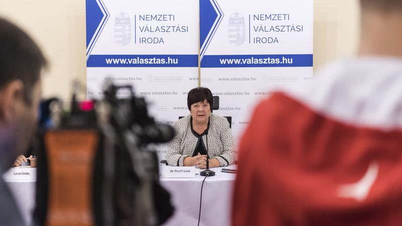 Pálffy Ilona, a Nemzeti Választási Iroda elnöke. fotó: MTI/Szigetváry Zsolt