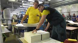 Már nyomtatják a szavazólapokat