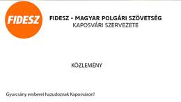 Fidesz: Gyurcsány emberei hazudoznak