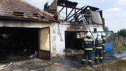 Kiégett egy műhely Marcaliban