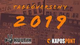 Tablóverseny 2019: várjuk a nevezőket!