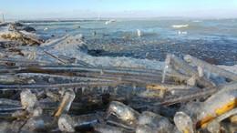 Alakul a jégpáncél a Balatonon