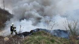 Fekete füstfelhő Kaposvár felett
