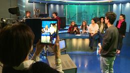 Olasz vendégek a Kapos TV stúdiójában