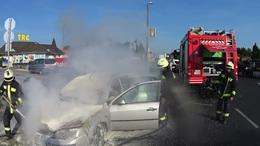 Autó lángolt a Balatonnál