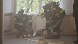 Tűzoltók gyakorlatoztak a kórházban