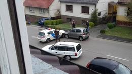 Rendőrautó balesetezett Kaposváron