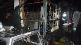 Bevetésen a kaposvári tűzoltók