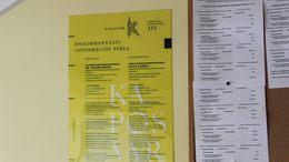 Információs táblát kapnak a kaposvári lépcsőházak