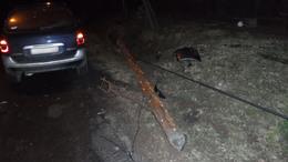Telefonoszlopot döntött egy autó Vízváron