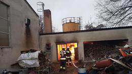 Kazánház lángolt a lakatos műhelynél