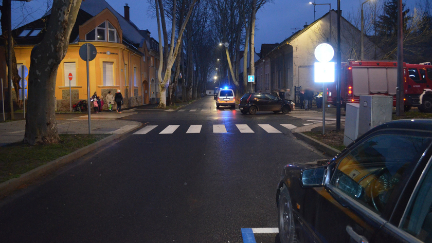 az SMRFK fényképfelvételei a legutóbb a kereszteződésben történt személyi sérüléses balesetről készültek február 8-án