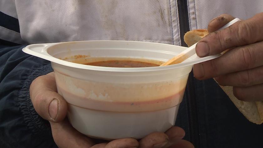 Ételosztás Kaposváron