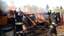 Kiégett egy melléképület Marcaliban