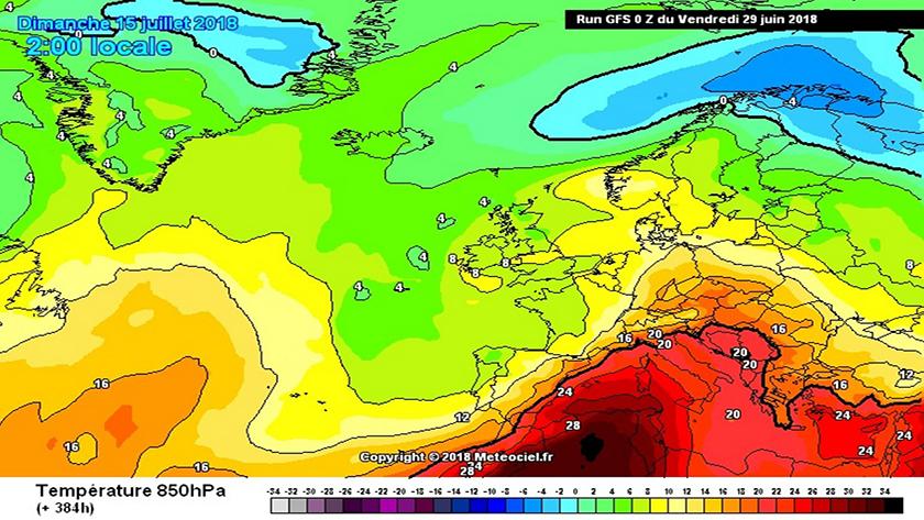 A hónap második felében akár tartósabb kánikula is kezdődhet. Az anticiklon fölé afrikai eredetű, egyre melegebb levegő érkezhet.