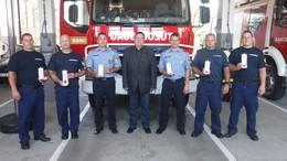 Somogyi tűzoltókat köszöntöttek