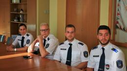 Fiatal rendőrtisztek Somogyban