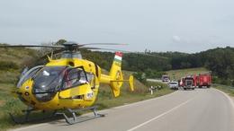 Két mentőhelikopter vitte el a karambol sérültjeit