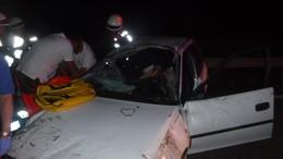 Felborult egy autó az M7-esen