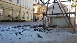 Leégett egy stand a belvárosban