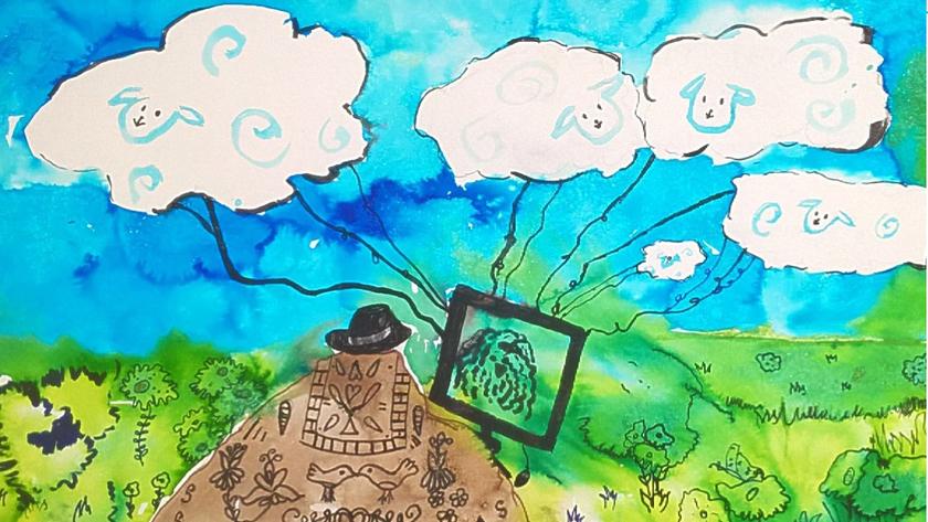 I. helyezett: Bányai Viktória: számítógépes felhőpásztor.jpg