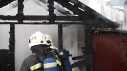 Kiégett egy melléképület Kaposszerdahelyen