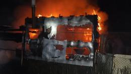 Leégett egy melléképület Barcson