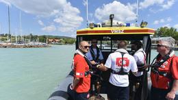 Megérkezett a vízimentők két új hajója a Balatonra